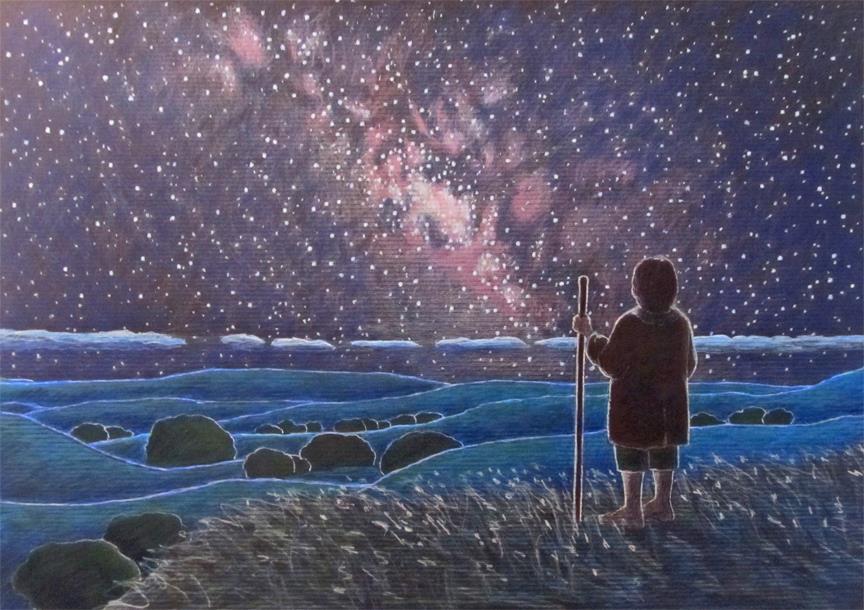 frodo-walking-under-starlight-drawing