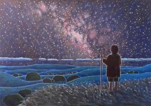 frodo-walking-under-starlight-drawing
